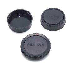 3 PENTAX K Mount Caps 1 Camera Body cap 2 Rear Lens Caps Use on K1000 ME  NEW