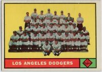 1961 Topps #86 Dodgers Checklist EX-EXMT Koufax Drysdale Podres FREE SHIPPING