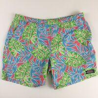 Vineyard Vines Men's XL Swim Trunks Shorts Tropical Leaf Floral