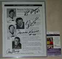 Stan Mikita + Magnuson + Fleming + Karoll CHICAGO Blackhawks JSA 8.5x11photo HOF