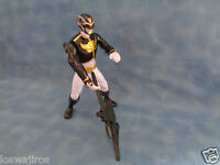 Bandai Black  & Gold Power Ranger Action Figure w/ Weapon