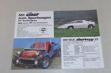 Prospekt / Brochure Albar buggy ES / Buggy S / Sonic GT / Super Käfer