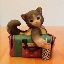 "Calico Kittens ""The Best Buddy in the World"" Kitty Cat in Gym bag Figurine"