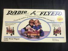 VINTAGE RADIO FLYER LITTLE WOOD WAGON Model #6 – BRAND NEW SEALED