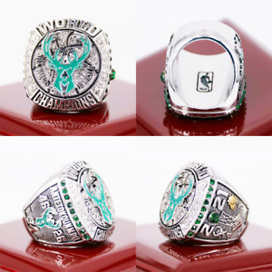 2021 Milwaukee Bucks Championship Ring ANTETOKOUNMPO NBA Champions Size 8-14 New