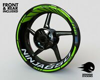 "Wheel Stickers for Kawasaki Ninja 650 Rim Tape Motorcycle Decals Graphics 17"""