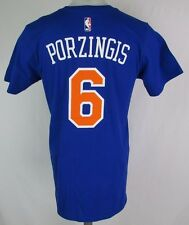 New York Knicks Men's S-2XL #6 Porzingas Player T-Shirt NBA adidas Blue A14 015