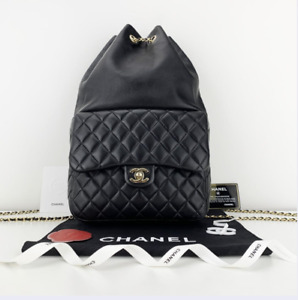 CHANEL Quilted Lambskin Leather Seoul Large Backpack