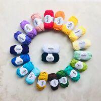 100%Brushed Egyptian cotton ARAN yarn gift set Oeko-Tex® amigurumi 20pcsx50grams