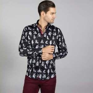 Mens Claudio Lugli Couture Pin-Up Girls Shirt CP6650