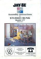 JAY-BE Studio3 ASSEMBLY INSTRUCTIONS Bunk Bed high sleeper + Futon + Desk Manual