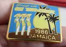 PIN'S USA ON THE MOVE JAMAICA 1986 SNAP ON EGF MFS