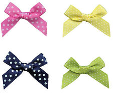 "70pcs 37mm 1.5"" Bow 9mm Polka Dot Ribbon Sewing Gift Handmade Eco Quality"