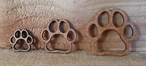 Wooden MDF Paw Print Shapes Craft x12 mixed sizes Embellishments