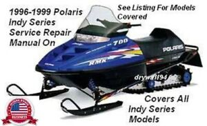1996 - 1999 Polaris Indy Snowmobile All Indy Series Service & Repair Manual