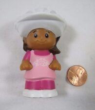 Fisher Price Little People MIA GIRL in PINK DRESS w/ HELMET Hispanic Rare!