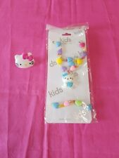 Kids Collection Hello Kitty 3 Piece Jewelry With Hearts And Hard Plastic Ring