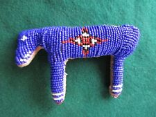 NATIVE AMERICAN BEADED LEATHER FETISH, AMERICAN INDIAN, HORSE AMULET CO-02294