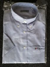Deluxe Fairline Oxford Long Sleeve Shirt with logo Size 10 Blue - rrp £39.99
