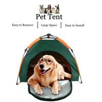 Foldable Pet House Bed Tent Dog Cat Kennel Washable Portable Travel w/ Bag