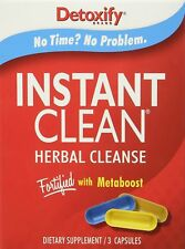 Detoxify Instant Clean Herbal Cleanse Ready Clean Meta Boost Detox - 3 Pil (D75)
