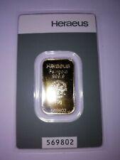 Goldbarren 10 g, der Firma Heraeus