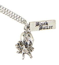 Black Butler GRELL SILVER TONE CHARM NECKLACE Pendant Officially Licensed