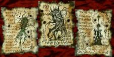 NECRONOMICON pages SHUB NIGGURATH RITUALS Cthulhu larp lovecraft monsters