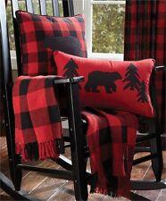Country Rustic Cabin Buffalo Check Cotton Throw Blanket