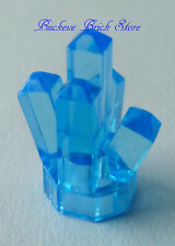 NEW Lego CRYSTAL Power Miner Minifigs Jewel Trans MEDIUM BLUE Treasure Chest Gem