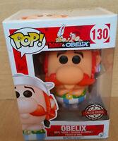 FIGURINE FUNKO BOX  POP POP! BOITE AVEC LE HEROS DE BD : OBELIX AVEC STICKER