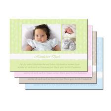 Taufe Einladungskarte Danksagung Mit Foto Karte + Kuvert