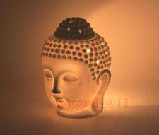 MEDITATION BUDDHA HEAD PORCELAIN TEA LIGHT CANDLE HOLDER OIL BURNER HOME DECOR