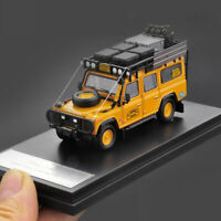 New 1/64 Master Brand Land Rover Defender 110 camel trophy diecast car model