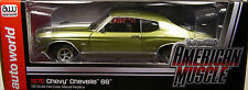 GREEN 1970 CHEVROLET CHEVELLE SS454 AUTO WORLD 1:18 SCALE DIECAST METAL CAR