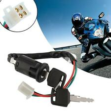 2017 Universal Off Road Motorcycle 4 wire Ignition Switch Lock with key hot BΚ
