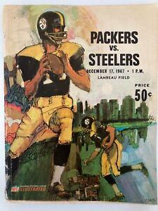 12/17/1967  Green Bay Packers Program vs Pittsburgh Steelers. Lambeau Field