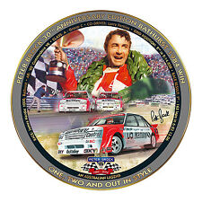 Peter Brock 1984 Bathurst Win Plate with 22K Gold Accents & Art by Mark Sofilas