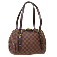 LOUIS VUITTON RIVINGTON PM HAND BAG FL0111 PURSE DAMIER EBENE N41157 AUTH 38668