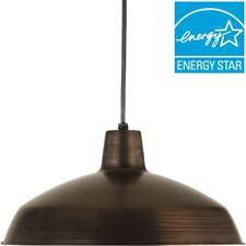 Progress Lighting 1-Light Venetian Bronze LED Pendant with Metal Shade
