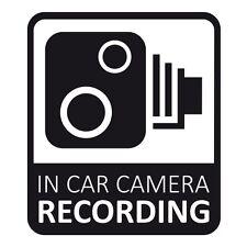 In Car CCTV Camera Recording Dash Cam Car Van Window Bumper Sticker Decal Black