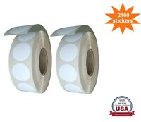 White Color-Coding Dot Stickers 3/4 Inch (19MM) 2100 Pack on Rolls