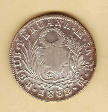 "Philippine 1832 PERU 8 Reales Counterstamp ""YII"" SCARCE AU/UNC Full luster"