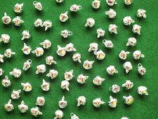 100 x SILVER Jingle Bells 9mm Christmas Charms Jewellery & Crafts UK