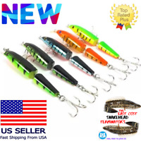 BASS Multi-jointed Minnow Fishing Lures Bait Swimbait CrankBait Tackle 10.5cm