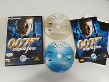 007 nightfire james bond game for pc 2x cd-rom spanish pierce Brosnan EA Games