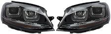 Conduite à GAUCHE VW GOLF VII MK7 2012+ Noir Double U DRL LED Projecteur