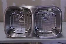 "32"" x 18""  Stainless steel, 50/50 double bowl undermount kitchen sink #A-28"