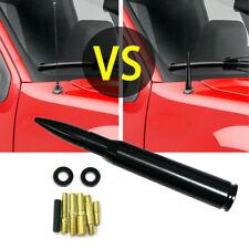 50 Cal Caliber Bullet Ammo Aluminum Short Antenna Black Kit For Chevy Silverado