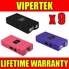 (9) VIPERTEK VTS-880 90 MV Mini Stun Gun 3 Colors Mix - Wholesale Lot